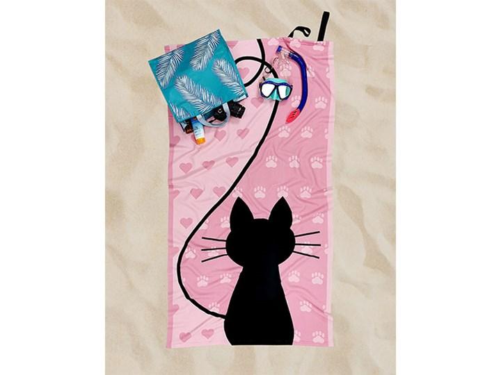 Ręcznik Plażowy kot Ręcznik z kapturkiem 90x170 cm Kategoria Ręczniki Ręcznik kąpielowy Kolor Różowy