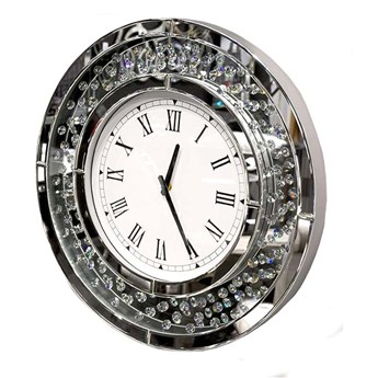 ZEGAR lustrzany diamenty 15JS0015 50x50cm outlet