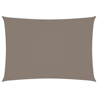 vidaXL Prostokątny żagiel ogrodowy, tkanina Oxford, 3,5x4,5 m, taupe