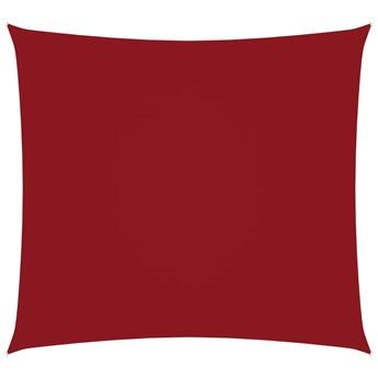 vidaXL Kwadratowy żagiel ogrodowy, tkanina Oxford, 5x5 m, czerwony
