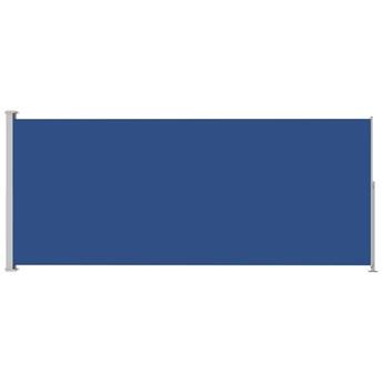 vidaXL Zwijana markiza boczna na taras, 200x500 cm, niebieska