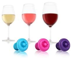 Vacu Vin, Korki do wina kolorowe, zestaw 3 szt. - Darmowa dostawa do ponad 190 salonów empik!