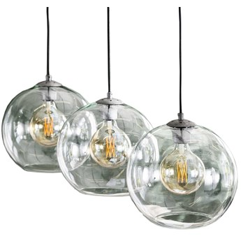 Lampa wisząca Lous 3L Ø30 cm transparentna