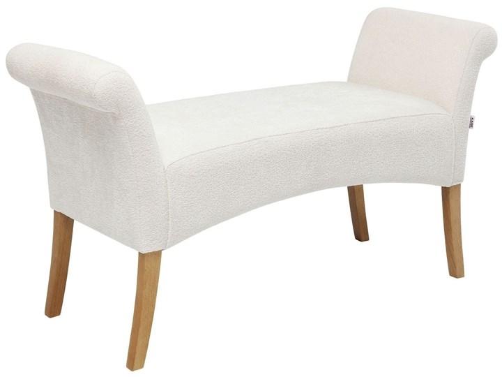 Ławka Motley Hugs 107x62 cm biała Pomieszczenie Salon