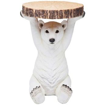 Stolik kawowy Bear ∅37 cm biały