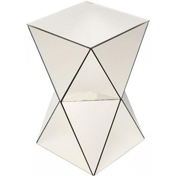Stolik kawowy Luxury 32x54 cm lustrzany szampański