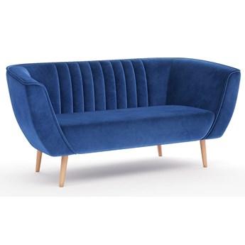 Sofa trzyosobowa do sypialni na wysokich nóżkach - PAS
