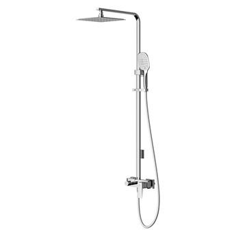 Parma zestaw prysznicowy z deszczownicą ścienny chrom PM7444CR