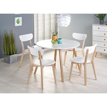 Okrągły stół rozkładany kuchenny skandynawski ⌀102 cm