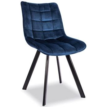 Krzesło Do Jadalni K332 Velvet Granatowy