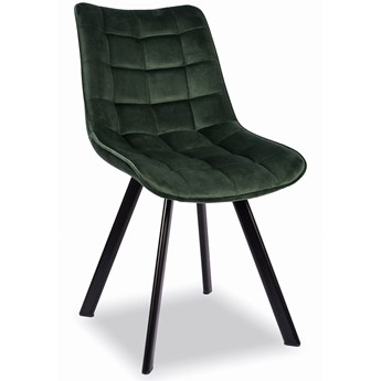 Krzesło Do Jadalni K332 Velvet Butelkowa Zieleń