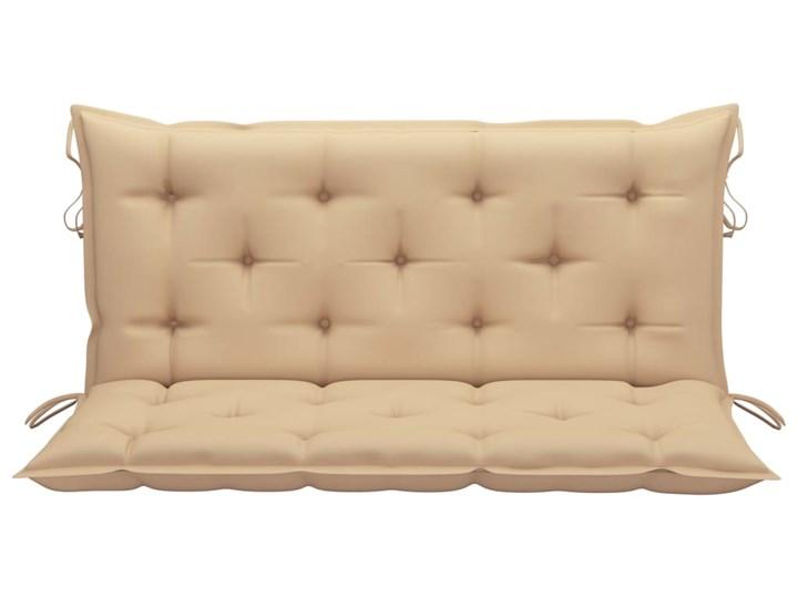 vidaXL Huśtawka ogrodowa z beżową poduszką, 120 cm, drewno tekowe Typ Huśtawka ze stelażem Kolor Beżowy