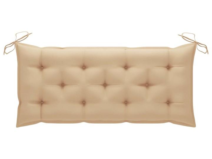 vidaXL Huśtawka ogrodowa z beżową poduszką, 120 cm, drewno tekowe Typ Huśtawka ze stelażem
