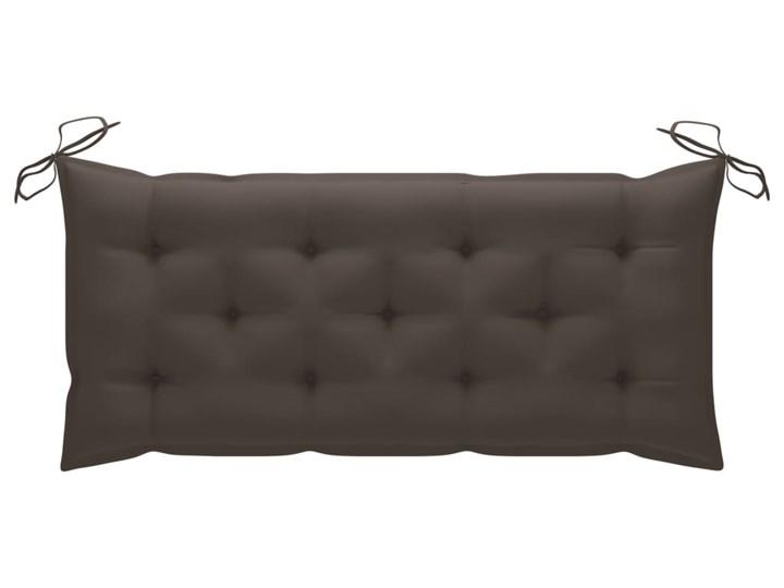 vidaXL Huśtawka ogrodowa z poduszką taupe, 120 cm, drewno tekowe Typ Huśtawka ze stelażem Kategoria Huśtawki ogrodowe