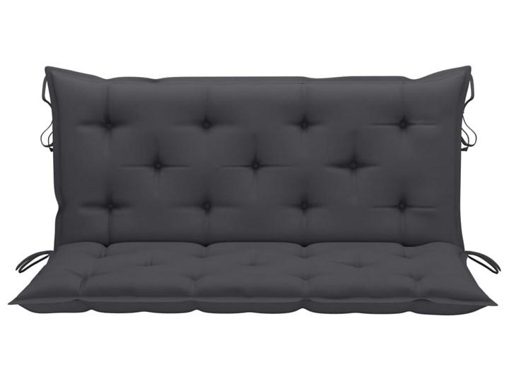 vidaXL Huśtawka ogrodowa z antracytową poduszką, 170 cm, drewno tekowe Kolor Szary
