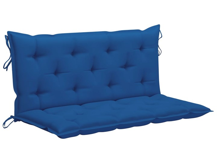 vidaXL Huśtawka ogrodowa z niebieską poduszką, 170 cm, drewno tekowe Typ Huśtawka ze stelażem Kolor