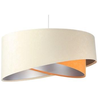 Beżowo-srebrna lampa wisząca z weluru - EX999-Serita