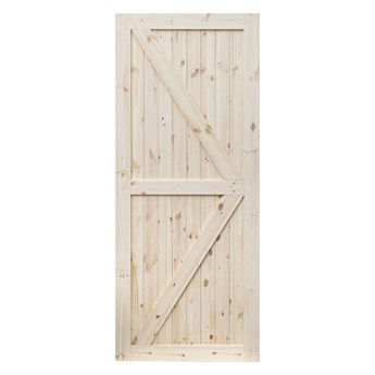 Drzwi pełne przesuwne Barn 80 sosna sęczna kształt K