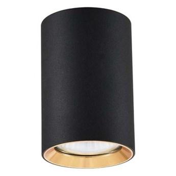 MANACOR 9 tuba 1 x 50W GU10 nowoczesna designerska czarna złota oczko sufitowe Light Prestige LP-232/1D - 90 BK/GD