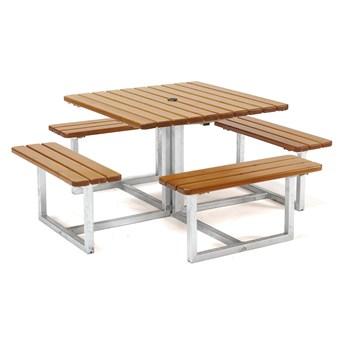 Stół piknikowy HJORTRON, 1740x1740x450 mm