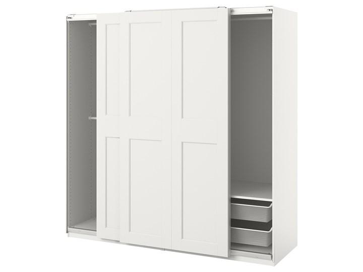 IKEA PAX / GRIMO Kombinacja szafy, biały, 200x66x201 cm Stal Metal Rodzaj drzwi Przesuwne