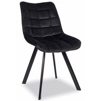 Krzesło Do Jadalni K332 Velvet Czarny