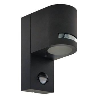 Lampa ogrodowa kinkiet elewacyjny z czujnikiem ruchu VIRA 1 PIR GU10 czarny IP44 EDO777376 EDO Garden Line