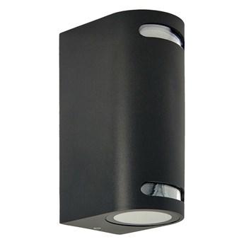 Lampa ogrodowa kinkiet elewacyjny VIRA 2 2xGU10 czarny IP54 EDO777375 EDO Garden Line