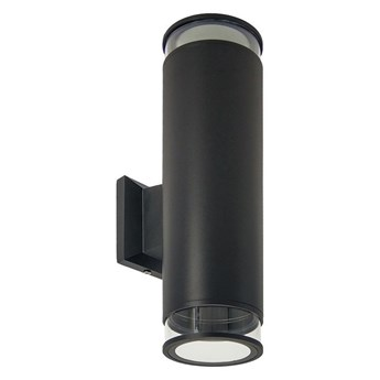 Lampa ogrodowa kinkiet elewacyjny ANGA 2 BLACK 2xGU10 czarny IP54 EDO777371 EDO Garden Line