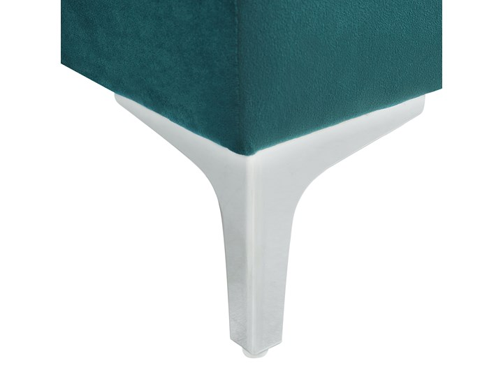 Narożnik prawostronny modułowy zielony 3-osobowy dodatkowe poduszki styl glamour Modułowe Styl Nowoczesny
