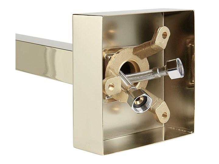 Bateria wannowa złota wolnostojąca 120 cm nowoczesna Wykończenie Mosiądz Bateria stojąca Bateria prysznicowa Kolor Złoty