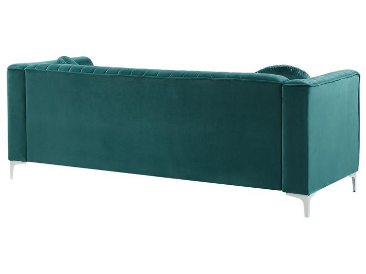 Narożnik lewostronny modułowy zielony 3-osobowy dodatkowe poduszki styl glamour Modułowe Materiał obicia Welur