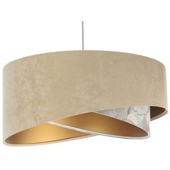 Ciemnobeżowa lampa wisząca welurowa - EXX07-Belona