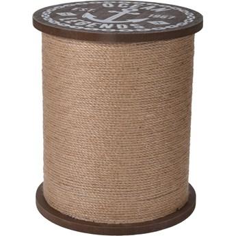 Boho stolik kawowy brązowy - Moldon