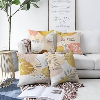 Zestaw 4 poszewek na poduszki Minimalist Cushion Covers June, 55x55 cm