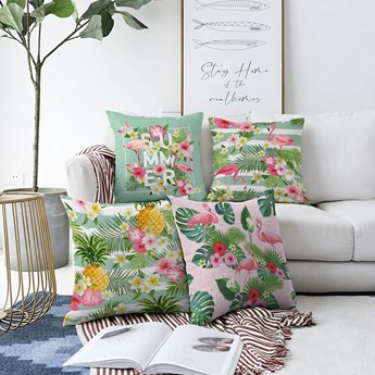 Zestaw 4 poszewek na poduszki Minimalist Cushion Covers Summer Vibes, 55x55 cm