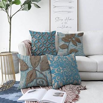 Zestaw 4 poszewek na poduszki Minimalist Cushion Covers Chenille, 55x55 cm
