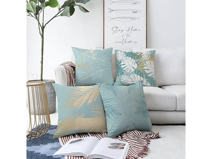 Zestaw 4 poszewek na poduszki Minimalist Cushion Covers Lagoon, 55x55 cm Poliester Poszewka dekoracyjna Bawełna Kategoria Poduszki i poszewki dekoracyjne