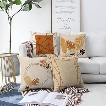 Zestaw 4 poszewek na poduszki Minimalist Cushion Covers Neutral, 55x55 cm
