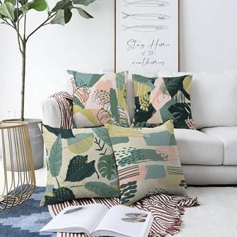 Zestaw 4 poszewek na poduszki Minimalist Cushion Covers Leaves, 55x55 cm