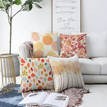 Zestaw 4 poszewek na poduszki Minimalist Cushion Covers Autumn Vibes, 55x55 cm