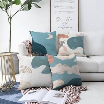 Zestaw 4 poszewek na poduszki Minimalist Cushion Covers Under Water, 55x55 cm