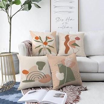 Zestaw 4 poszewek na poduszki Minimalist Cushion Covers Rainbow, 55x55 cm
