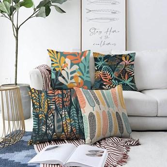 Zestaw 4 poszewek na poduszki Minimalist Cushion Covers Colorful, 55x55 cm