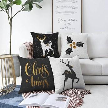 Zestaw 4 poszewek na poduszki Minimalist Cushion Covers Christmas, 55x55 cm