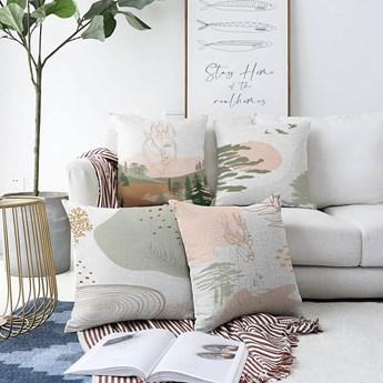 Zestaw 4 poszewek na poduszki Minimalist Cushion Covers Scenery, 55x55 cm