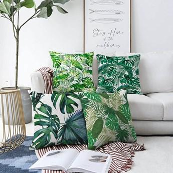 Zestaw 4 poszewek na poduszki Minimalist Cushion Covers Summer Jungle, 55x55 cm