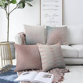 Zestaw 4 poszewek na poduszki Minimalist Cushion Covers Glitters, 55x55 cm