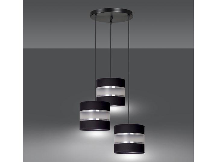 LARO 3 BLACK PREMIUM lampa wisząca abażury regulowana nowoczesna Lampa z abażurem Styl Klasyczny Lampa LED Metal Kategoria Lampy wiszące