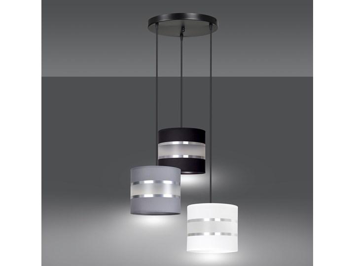 LARO 3 BL MIX PREMIUM lampa wisząca abażury regulowana nowoczesna Lampa z abażurem Kolor Czarny Metal Kategoria Lampy wiszące